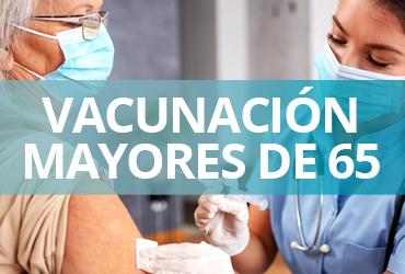 Vacunación COVID-19 para adultos mayores de 65 años